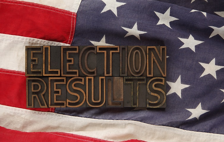 Election Results American Flag