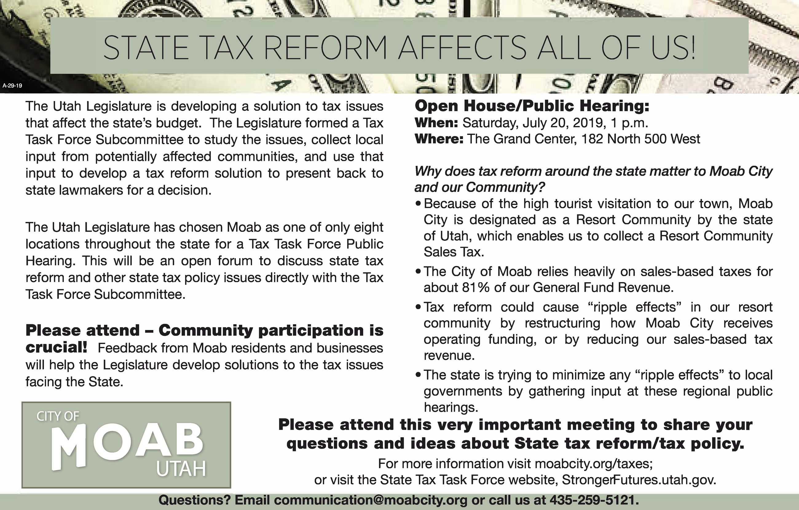 City of Moab State Tax Reform2