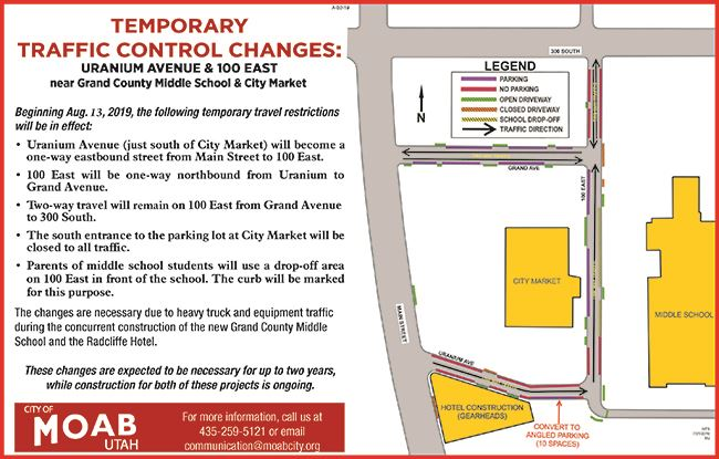 Uranium Avenue-100 East Temporary Travel Changes -Updated-for website