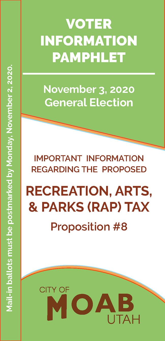Moab Proposition 8 Voter Information Pamphlet Opens in new window