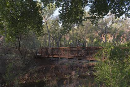 Bridge over Mill Creek at Rotary Park